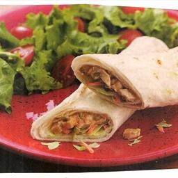 Chicken Satay Wraps