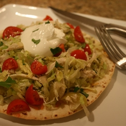 Chicken Tostada Salad with Salsa Verde