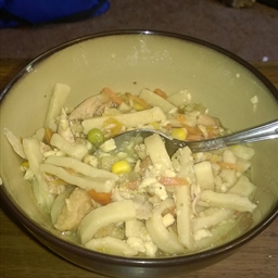 Chicken wing noodle soup
