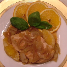 Chicken with oranges and onions  drferro@pureproactive level 1