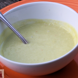 Chilled Spicy Avocado Soup (Sopa fria y picosita de aguacate)