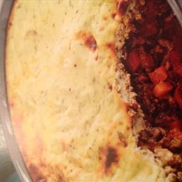 Chilli beef and veg pie