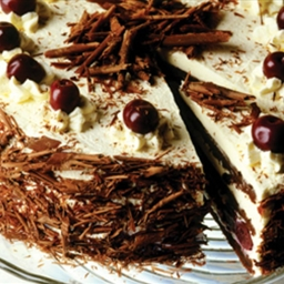 Chocolate And Black Cherry Gateau