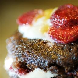 Chocolate Strawberry Shortcake Cupcakes (Vegan)