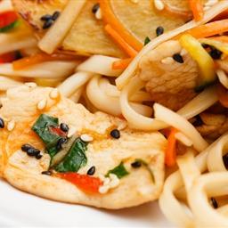 Cilantro Chicken and Spicy Thai Noodles