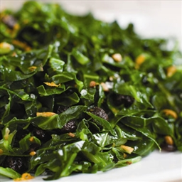 Citrus Collards with Raisins Redux