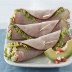 Cobb Salad Ham Roll-ups