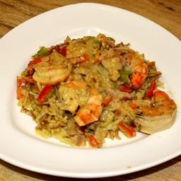 Coconut-Curry Prawns