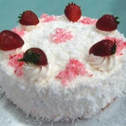 Coconut Strawberry Cake