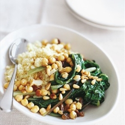 couscous with swiss chard