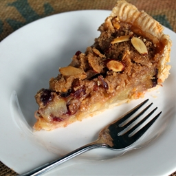 Cranberry Apple Pie with Almond Topping