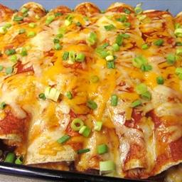 Cream Chicken Cheese Enchiladas