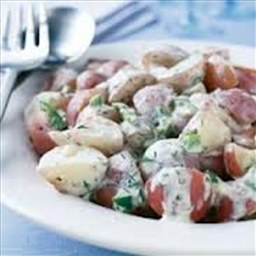 Creamed Red Potatoes and Peas