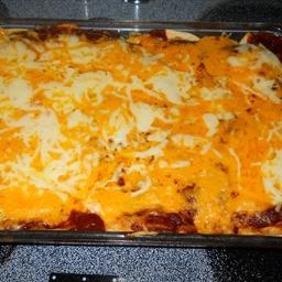 Creamy Cheesy Chicken Enchiladas