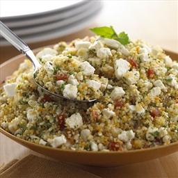 Crumbled Feta Couscous Salad