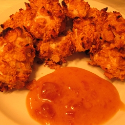 Crunchy Chicken Tenders With Apricot Dipping Sauce