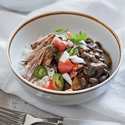 Cuban Pork Shoulder with Beans and Rice