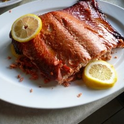 Dark Balsamic, Soy and Honey Glazed Grilled Northwest Salmon