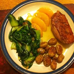 Duck Breast with Peach and Marsala Sauce
