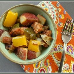 Easy Italian Sausage, Potato and Pepper Dinner