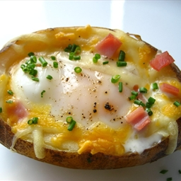 Egg Stuffed Baked Potato