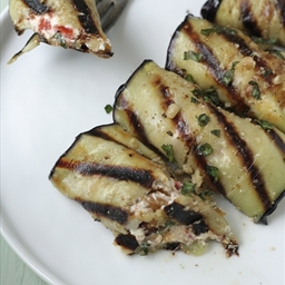 Eggplant Rolls with Goat Cheese, Roasted Pepper and Walnuts
