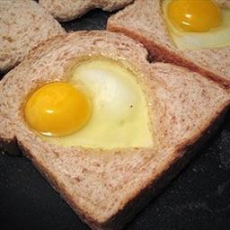 Eggs in Fried Bread