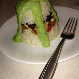Fajita Chicken with Rice & Avocado Dressing