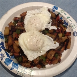 Farmhouse Hash with Pot-poached Eggs