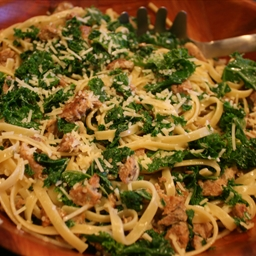 Fettucine with Sausage and Kale