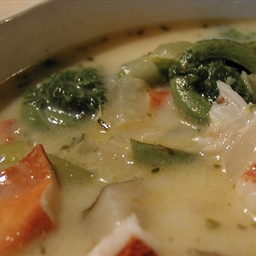 Fiddlehead and Lobster Chowder