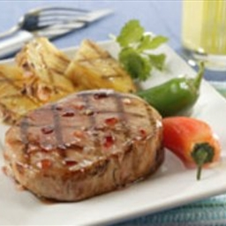 Fiery Island Pineapple Pork Chops