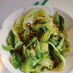 Fiery Stir-Fried Iceberg Lettuce with Basil
