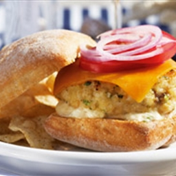 Fish Burger With Lemon Aioli