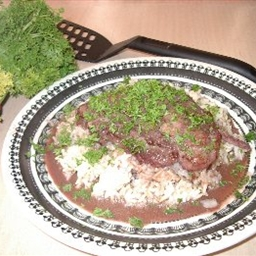 Fish in Red Wine Sauce