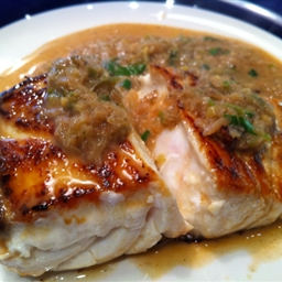 Fish with Red Curry Coconut Sauce