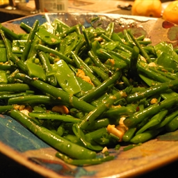 French Beans/Mange Tout With Hazelnut and Orange-By Ottolenghi