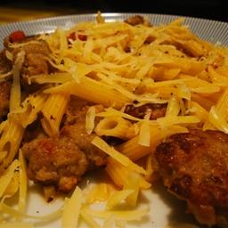 Fresh Pasta with Sausage and Mushrooms