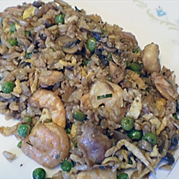 Fried Wild Rice with Mushrooms