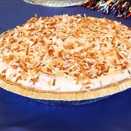 Frozen Coconut, Pecan and Caramel Pie