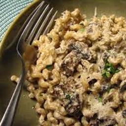 Fusili with porcini mushrooms