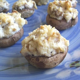 Garlic Ricotta Stuffed Mushrooms
