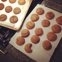 Gluten-free soft spicy ginger cookies