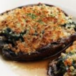 Goat Cheese Stuffed Portabellas
