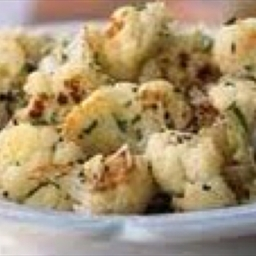 Golden Roasted Cauliflower with Pecorino Romano Cheese