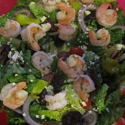 Greek Salad with Shrimp