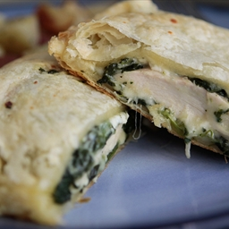 Greek Spinach Feta Chicken Bake