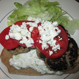 Greek-Style Lamb Pita Sandwiches with Tzatziki Sauce CT p. 27