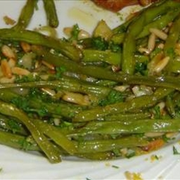 Green Beans, Roasted With Garlic, Shallots and Pine or Hazelnuts
