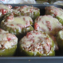 Green Bell Peppers with Cheese